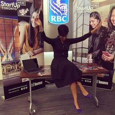 If you make it to the next #techto meetup be sure to stop by to say hello to  @nirvana.champignon of #startuphereto and @digitalmainstreet.   #techto #havingallthefun #work #toronto #digitalmainstreet #Toronto #TOevents #community