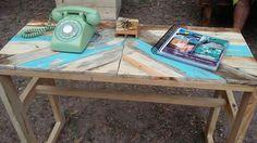 Mesa consola de madera reciclada de pallets