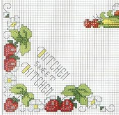 Kitchen motif corner 6 - free cross stitch pattern