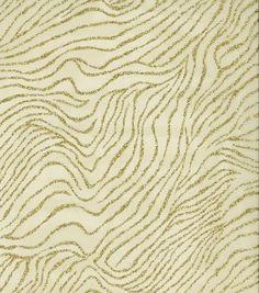 All That Glitters Fabric- Zebra Organza Glitter Gold