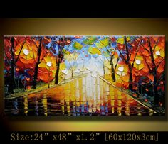Original Palette Knife Abstract PaintingModern by xiangwuchen, $285.00