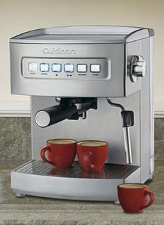 Expertly serve your guests authentic espresso with only the push of a few buttons with the Cuisinart Programmable Espresso Maker that will quickly become an entertaining essential.