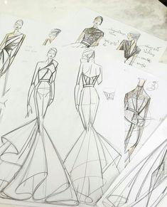 Com fashion illustrations fashion design sketches, croquis fas Fashion Design Sketchbook, Fashion Design Drawings, Fashion Sketches, Art Sketchbook, Fashion Design Inspiration, Mode Inspiration, Sketchbook Inspiration, Fashion Illustration Dresses, Fashion Drawing Dresses