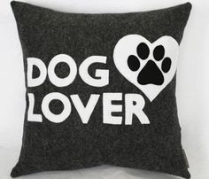 eco-friendly dog lover pillow from Petette on etsy