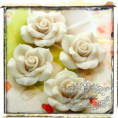 Hey, I found this really awesome Etsy listing at https://www.etsy.com/listing/86382527/6-pcs-x-40mm-big-polymer-clay-white-rose