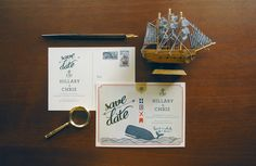love this nautical wedding theme from quill and fox