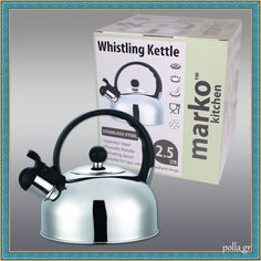 Whistling Kettle Stainless Steel Kitchen Appliances Caravan Camping Ltr New Stainless Steel Kitchen Appliances, Caravan, Kettle, Essentials, Camping, Ebay, Pour Over Kettle, Campsite, Camper