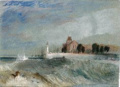 Quillebeuf circa 1832 by Joseph Mallord William Turner Joseph Mallord William Turner, Eclectic Paintings, Turner Watercolors, English Artists, Sea Art, Oil Painting Reproductions, Classical Art, Western Art, World Of Warcraft