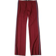 Virgin Wool Regular Trousers (32.100 RUB) ❤ liked on Polyvore featuring men's fashion, men's clothing, men's pants, men's dress pants, bordeaux and men's 5 pocket pants