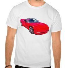 Red C5 Corvette convertible Muscle Car Mens T-shirts