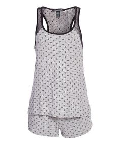 Gray Diamond Sweet Seduction Pajama Shorts Set