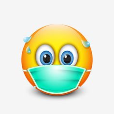 Illustration about Cute emoticon wearing medical mask - emoji. Illustration of emoticon, surgeon, character - 96186260 Smiley Emoji, Animated Emoticons, Funny Emoticons, Emoji Images, Emoji Pictures, Emoji Stickers, Cute Stickers, Frosch Illustration, Funny Emoji Faces