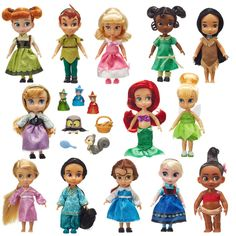 Disney Animators Collection Mini Doll Gift Set 5 is among the Top 15 Toys for 2018 from shopDisney and Disney store. Rapunzel, Disney Princess Dolls, Disney Dolls, Barbie Dolls, Drawing Cartoon Characters, Cartoon Drawings, Winnie The Pooh, Disney Animators Collection Dolls, Disney Animator Doll