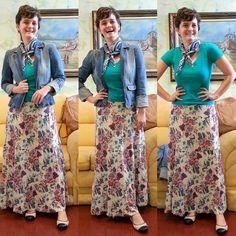 LEILA DINIZ *blog: Look 1: SAIA LONGA florida + Look 2: SAIA MÉDIA pr...