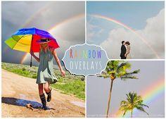 15 Rainbow Photoshop Overlays by ElyseBear on @creativemarket