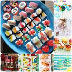 Candy Sushi Lets make the best looking sushi, of candy. Candy Sushi Lets make the best looking sushi, of candy. Dessert Sushi, Cute Food, Good Food, Yummy Food, Yummy Treats, Sweet Treats, Candy Sushi, Candy Making, Food Humor