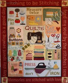"""Itching to be Stitching Wall Hanging Pattern + """"How to Applique!"""" Video Tutorial"""