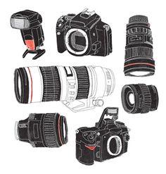 [Gear] camera aperture  #illustration #sketch