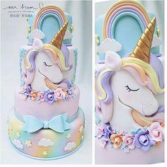 Linda inspiração #unicornio com painel Maravilhoso da @party_signLiiiindo @party_sign Apaixonada