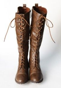 I may have pinned this before, but i adore them :)  County Outlaw Knee High Lace Up Boots