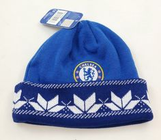 CHELSEA FC BEANIE soccer CAP WINTER SKULLIE HAT OFFICIAL AUTHENTIC - NEW 25eb9a44a4dc