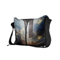 Easter hand bag with image of a cross deplicting the risen Lord.