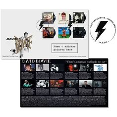 David Bowie London First Day Cover Stamps at Royal Mail Shop