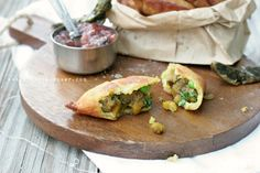 The Urban Poser:: Street Foods: Samosas W/Rhubarb Chutney & Fried Green Chilies (Grain/Potato/Gluten Free)l