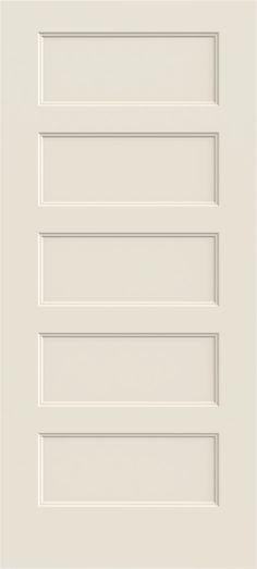 6 39 8 Modern 5 Panel Flat Molded Interior Door Slab Discount Interior Doors Pinterest Flats
