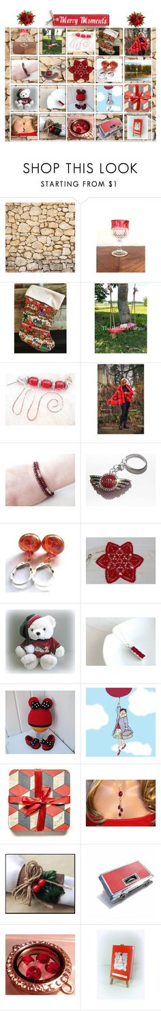 """""""Merry Moments"""" by cozeequilts ❤ liked on Polyvore featuring rustic"""
