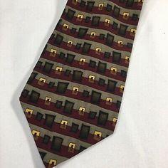 1996 Grateful Dead Jerry Garcia Neck Tie Doorways Splices Brown Red Gold Silk | eBay Gold Silk, Red Gold, Tie Styles, Tie Colors, Grateful Dead, Doorway, Color Patterns, Im Not Perfect, Neck Ties