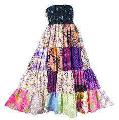 Bonya Women's 2 in 1 Bohemian Dress,Patchwork Swing Maxi Skirt - (Color144) Bonya Collections http://www.amazon.com/dp/B017T9E0XC/ref=cm_sw_r_pi_dp_hGKqwb1TP13Y4
