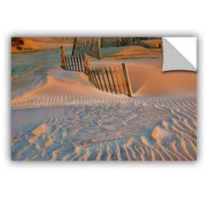"ArtWall ArtApeelz Dune Patterns Ii by Steve Ainsworth Photographic Print on Canvas Size: 32"" H x 48"" W x 0.1"" D"