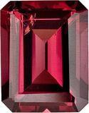 Genuine Rhodolite Garnet Loose Gemstone, Red Violet Color, Emerald Cut, 9 x 7 mm, 2.7 Carats at BitCoin Gems