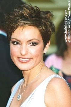 This style is so cute on Mariska Hargitay from Law & Order. She is like me and looks better with short hair.
