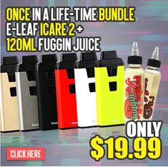 Vapor Joes - Daily Vaping Deals: USA BLOWOUT: ELEAF ICARE 2 + 120ML OF JUICE  - $19...