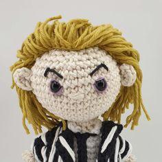 BEETLEJUICE – Ninja Cat Crafts Single Crochet Decrease, Single Crochet Stitch, Half Double Crochet, Crochet Patterns Amigurumi, Crochet Stitches, Crochet Hooks, Art Patterns, Pattern Art, Aran Weight Yarn