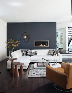Leather chair & sectional