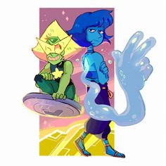of what I draw is Lapidot. Steven Universe Characters, Steven Universe Comic, Steven Universe Lapidot, Lapis Lazuli Steven Universe, Lapis And Peridot, Steven Univese, Universe Art, Star Vs The Forces, Fanart