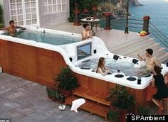 Luxema 8000 Hot Tub - Wow, that is one serious tub!