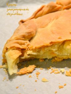 Pureed Food Recipes, Greek Recipes, Desert Recipes, Cooking Recipes, Greek Cooking, Greek Dishes, Savoury Baking, Bread And Pastries, Brunch Recipes