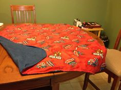 """PRICE: $25.00. Flannel action hero """"Spider-man, Iron Man, Captain America blanket with blue/balck backing (""""41 X 35"""") MADE BY KRIS"""