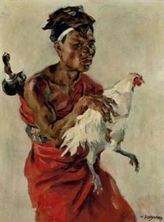 Dooyewaard, Willem  - Man with fighting rooster
