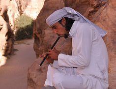 Flute player: Little Petra, Jordan by albertusmagnus, via Flickr