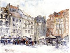 A artista polonesa Maja Wrońska retrata a arquitetura de cidades como Cracóvia, Praga, Veneza e Paris em delicadas aquarelas, confira.