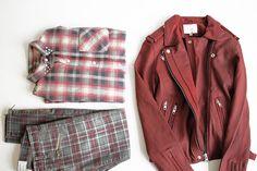 Current Elliot pants + shirt, Iro leather jacket