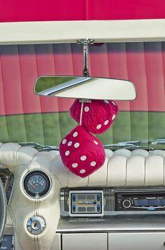 Cadillac Images by Jill Reger - Images of Cadillacs - 1959 Cadillac Eldorado Fuzzy Dice