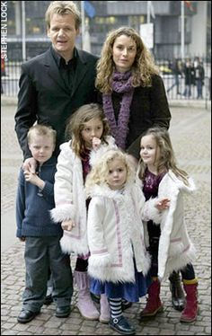 Chef Gordon and Tana Ramsay with their children.