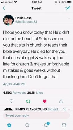 AlThough going to church and reading your bible everyday does make you a stronger Christian. However God still loves us when we mess up and make mistakes. Bible Verses Quotes, Jesus Quotes, Faith Quotes, True Quotes, Scriptures, Camp Quotes, Brainy Quotes, Vinyl Quotes, Wisdom Quotes