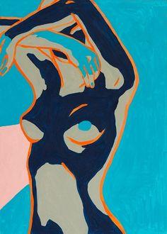 """Lena Yastreb; Acrylic 2012 Painting """"Inevitability"""""""